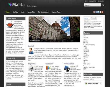 Free Malita Joomla 2.5 Elegant Template