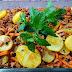 Salsicha refogada com legumes