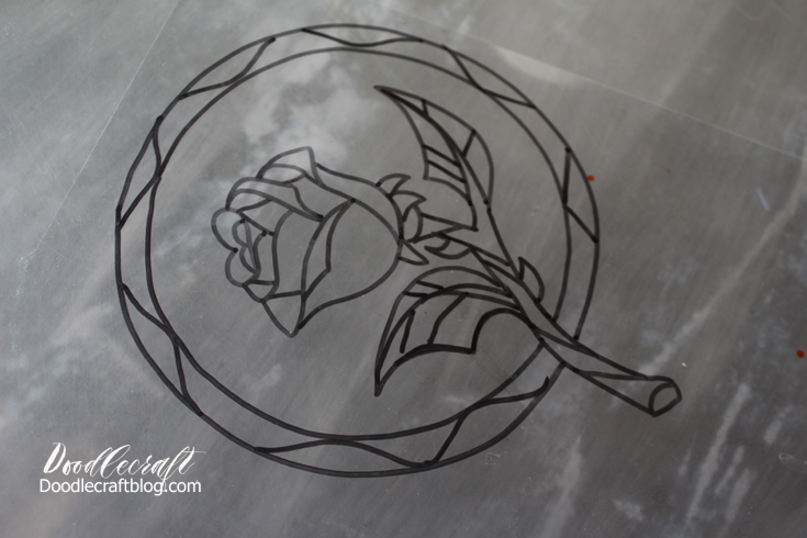 Enchanted Rose Drawing: Doodlecraft: Beauty And The Beast Enchanted Rose Suncatcher