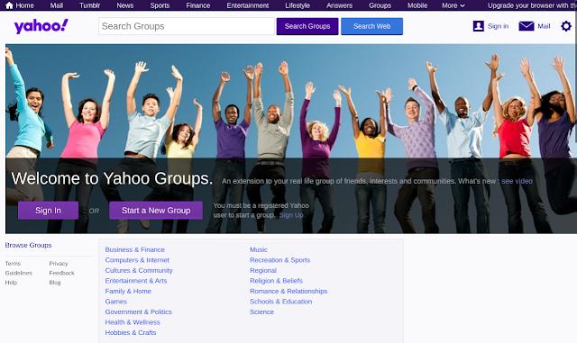 Yahoo Groups Main Page
