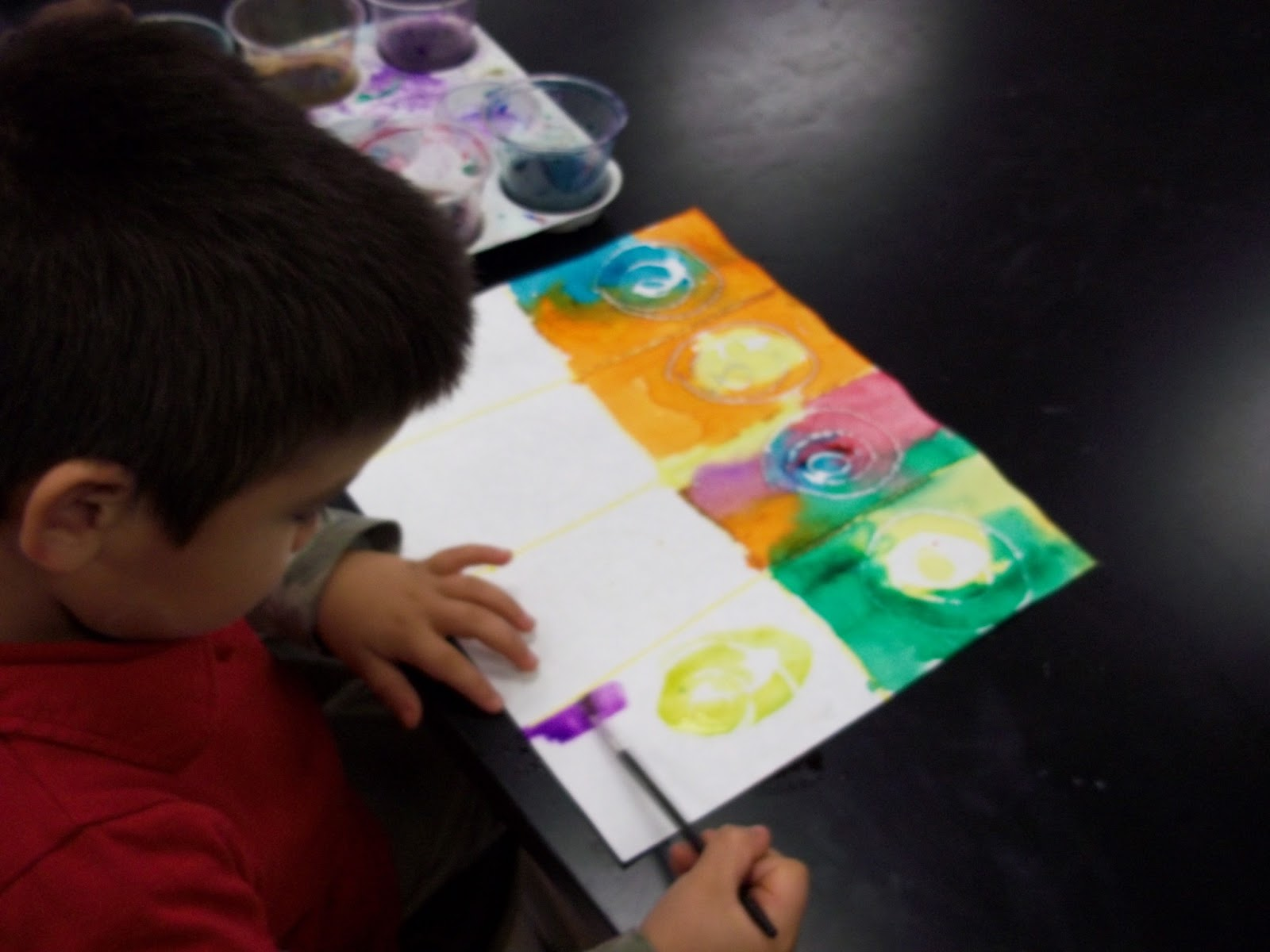 Art Kids Of Benavidez Elementary Kandinsky Circles With Pre K And Kindergarten