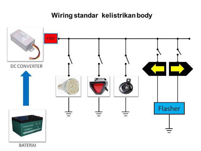Jalur Kelistrikan Sepeda Motor Listrik  Wiring Diagram Sederhana Untuk Kendaraan Listrik
