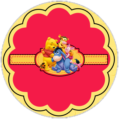 Cute Winnie the Pooh: Free Download Cupcake Wrappers and Toppers.
