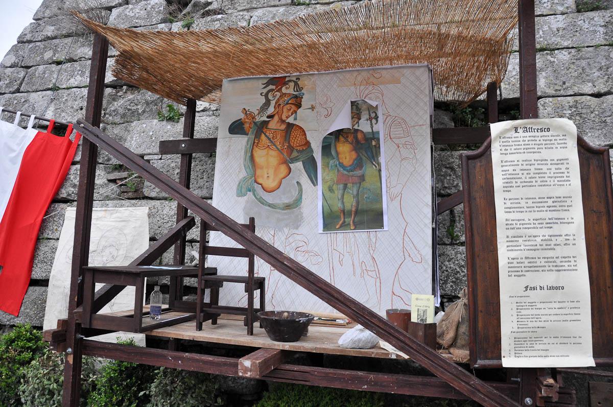 Fresco painting, Romeo and Juliet Festival - Faida, Montecchio Maggiore, Veneto, Italy