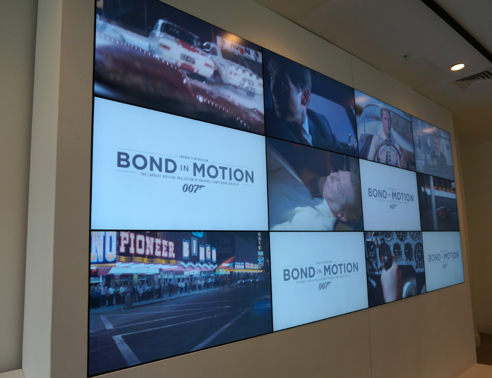 Screen at James Bond Car Exhibition