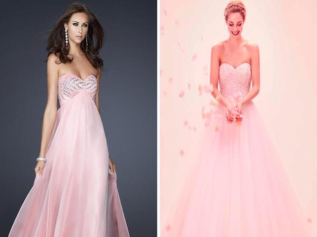 vestidos de noiva cor de rosa