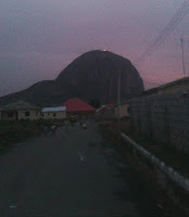 Zuma rock on fire since yesterday evening