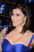 Mannara Chopra in Deep Neck Blue Gown at Zee Telugu Apsara Awards ~  Exclusive 024.jpg