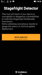 test android dari stagefright