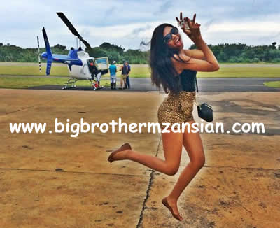 Blue Mbombo Taking Helicopter Flying Lessons 2