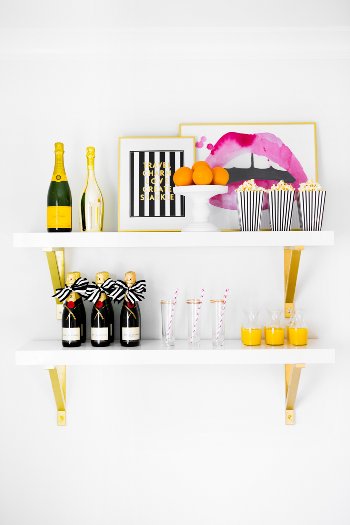DIY Bar & Drinks Station Ideas - via BirdsParty.com