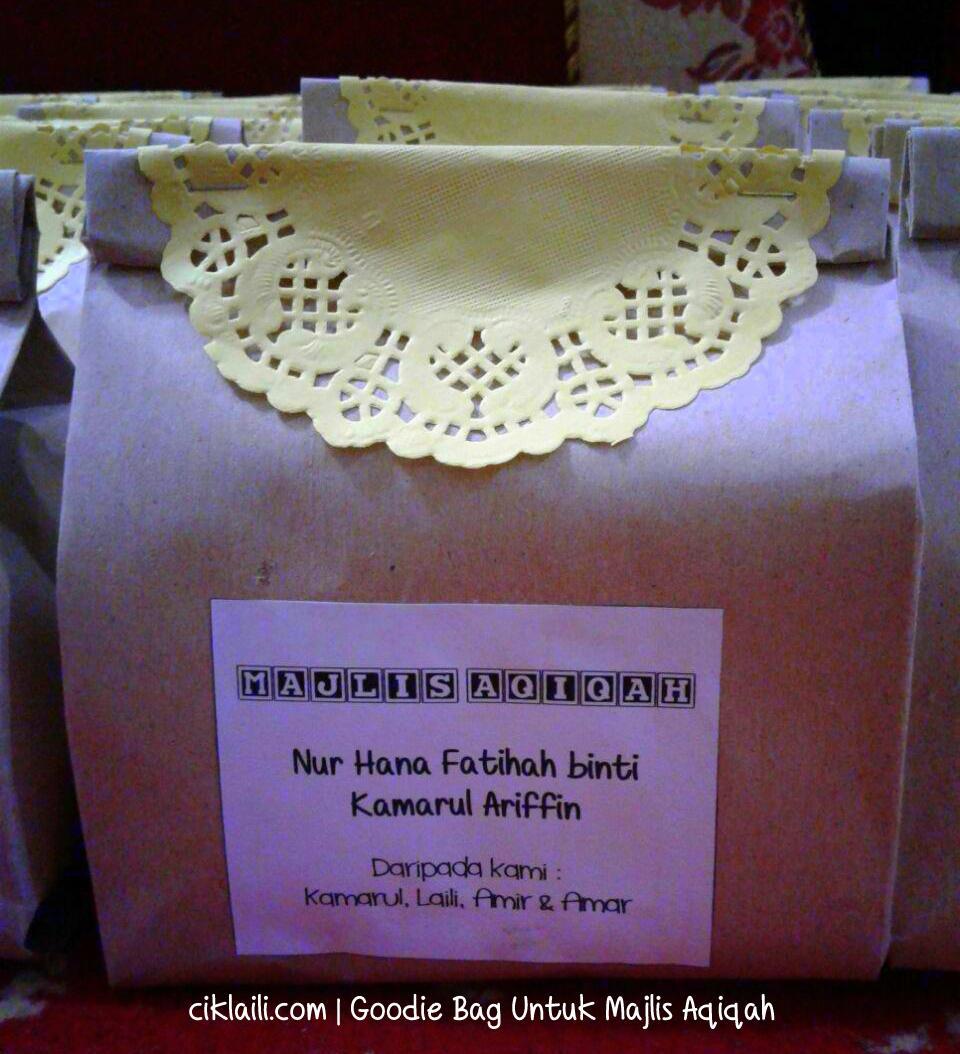 Diy sticker majlis aqiqah empat sticker for Idea doorgift untuk aqiqah