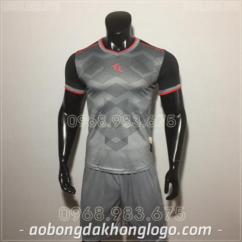 Áo bóng đá không logo TL Xabi  màu xám