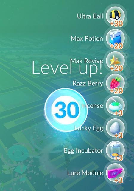 Ini yang Terjadi Pada Level 30 Pokemon Go