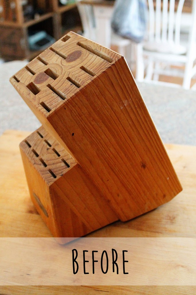 Confessions Of A New Old Home Owner Diy Knife Block Update