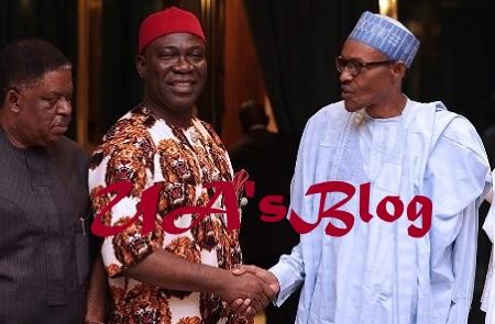 BREAKING!! Ekweremadu, South East Governors Meet President Muhammadu Buhari In Aso Rock