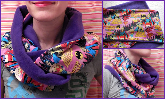 dc comics super girls scarf