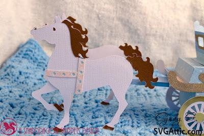 3d paper horses
