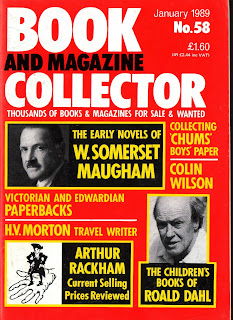 cover of Book and Magazine Collector January 1989, no. 58