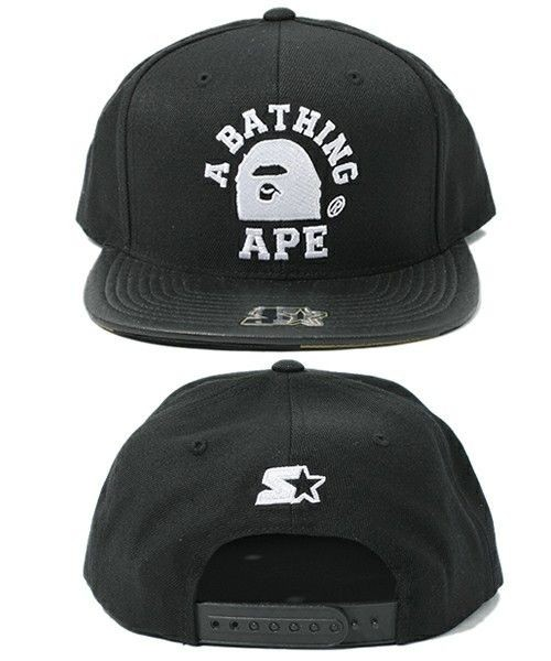 8159dbb7739 A BATHING APE BAPE X STARTER 1ST CAMO SNAPBACK Cap Brand NEW Men s Black  J-Zay Kanye West Big Sean Pharrell Williams