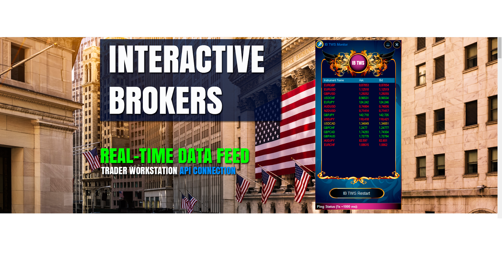 Interactive Brokers TWS Fast Data Feed  | Westernpips Group