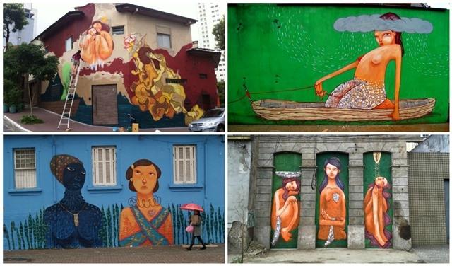 Mag Magrela expõe mural no Sesc Vila Mariana