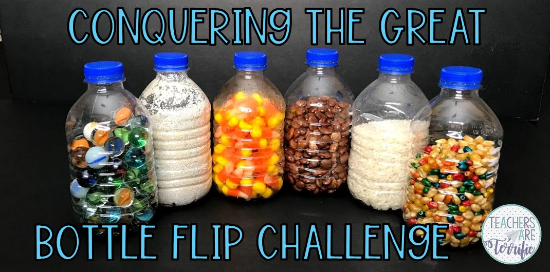 Can you flip a water bottle and land it? What if you fill the bottle with something other than water? This post will give you some great tips and a freebie!