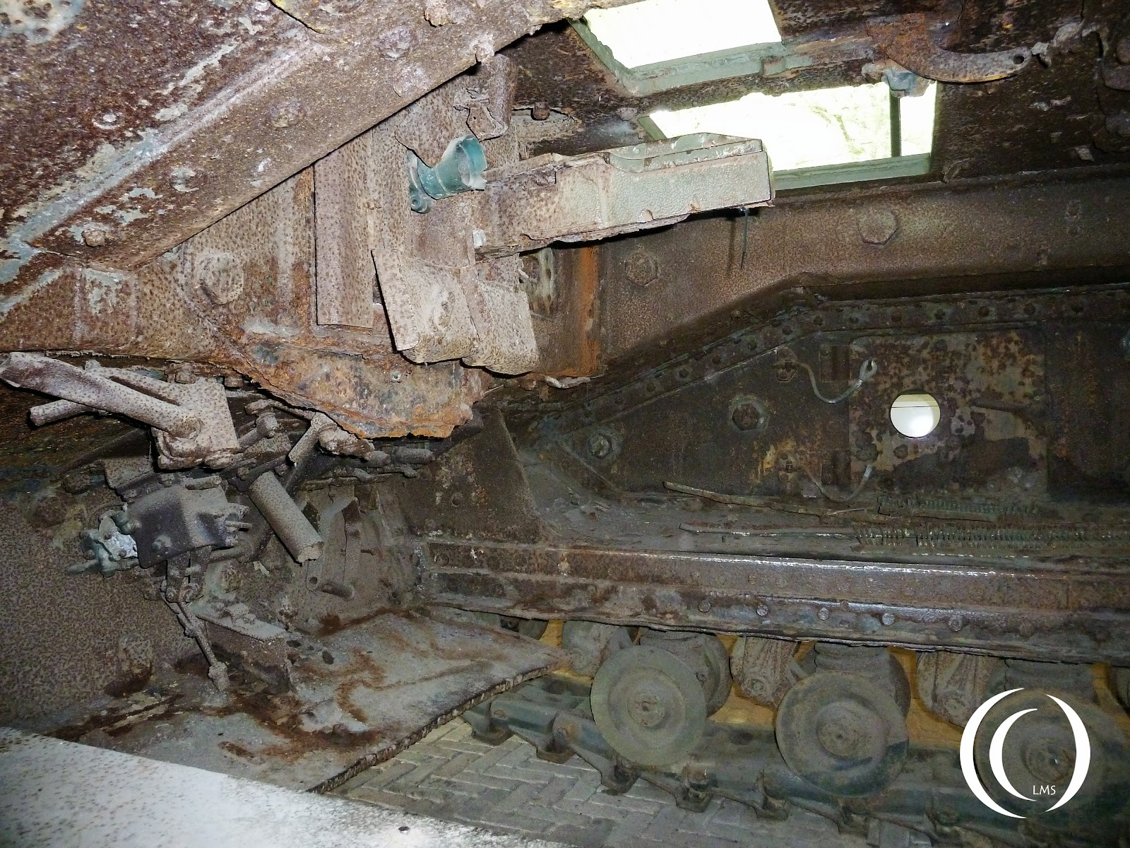 Churchill mark IV inside with belly plate removed