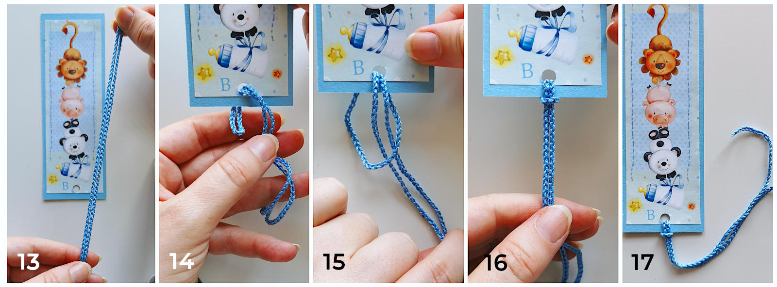 how to make a bookmark attaching a cord