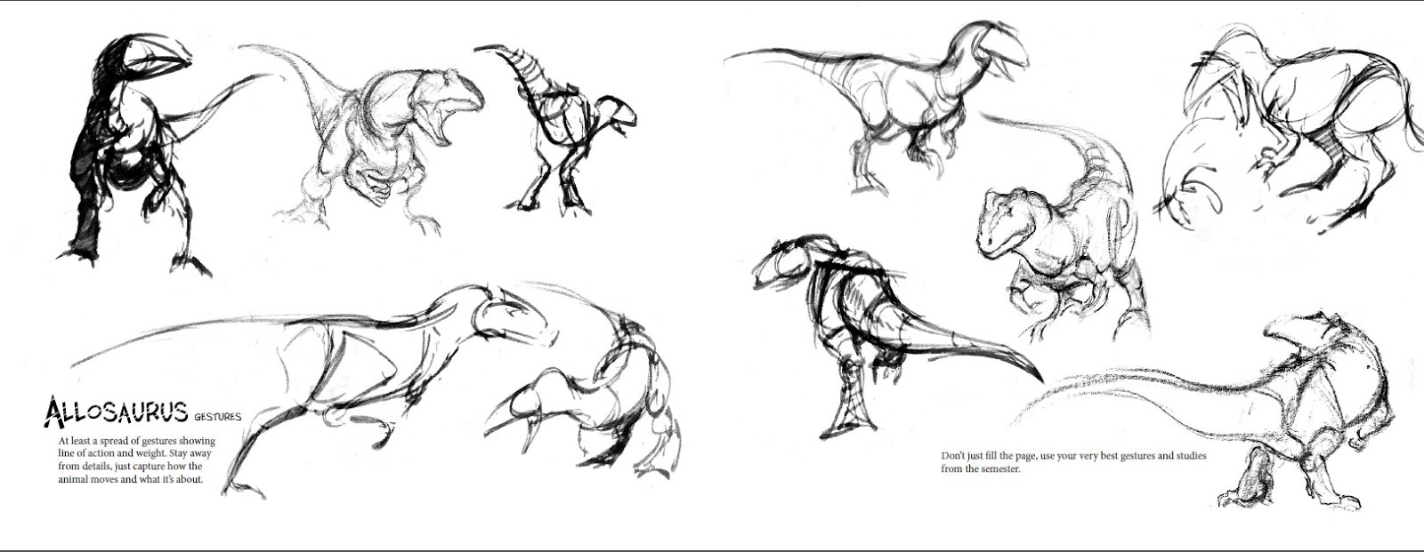 SonjebasaLand: How to draw an allosaurus; a model pack