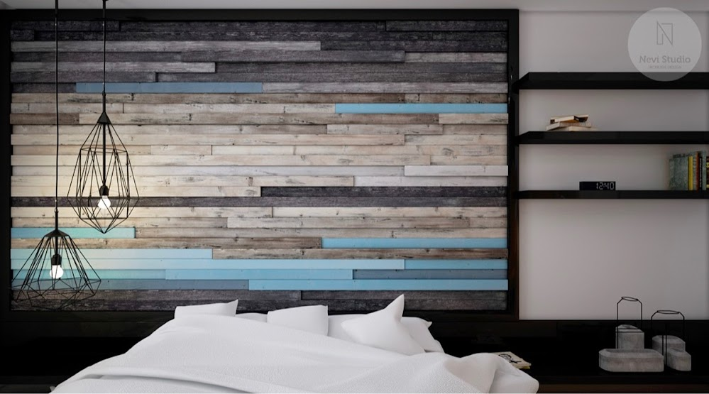 blue-black-and-grey-wood-panel-rustic-accent-wall