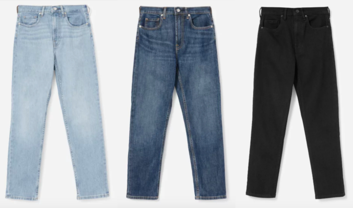 everlane cheeky high rise straight jeans review stylewise-blog.com