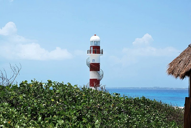lighthouse on the Cancun beaches