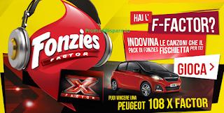 Logo Vinci biglietti X Factor e una Peugeot 108