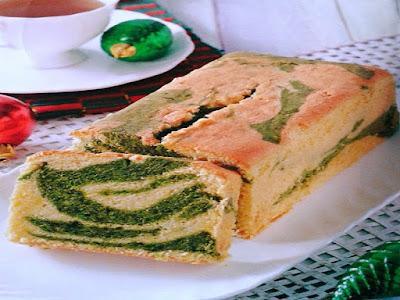 Gambar Resep Layer Matcha Pound Cake