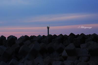 日本の風景 日本海 富山湾 夕日