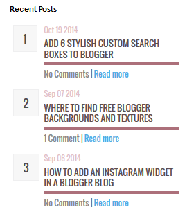 recent posts for blogger, cool widgets