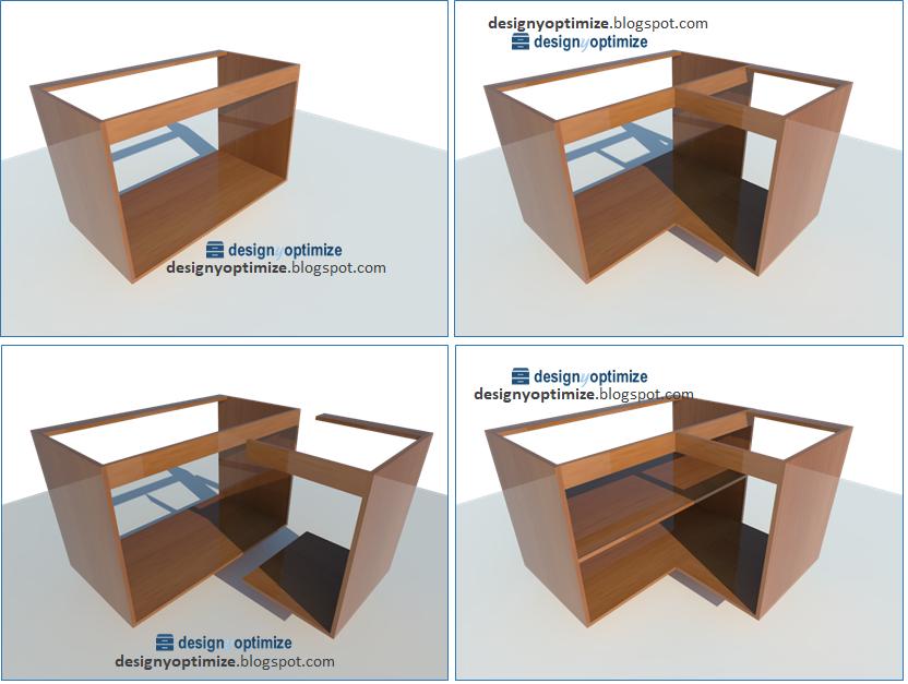 Dise o de muebles madera forma f cil de fabricar mueble - Mueble esquinero cocina ...