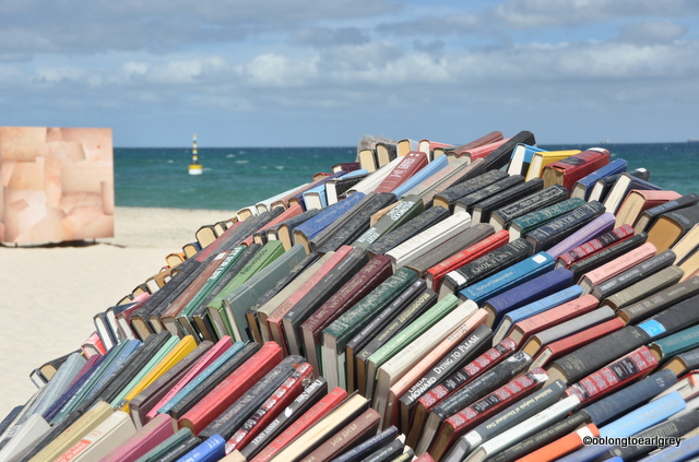 Book Cave, by Juliet Lea, WA, Sculptures by the Sea Cottesloe 2016