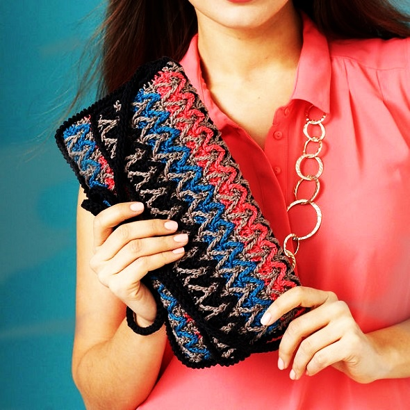 bolso crochet, clutch ganchillo, patrones crochet