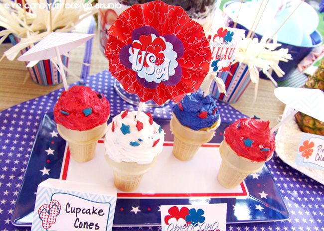 USA, 4th of July dessert idea, luau ideas, stars & stripes, americana
