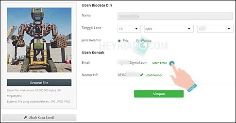 Cara Mengganti Email dan No HP Tokopedia 2 Cara Mengganti Email dan No HP Tokopedia
