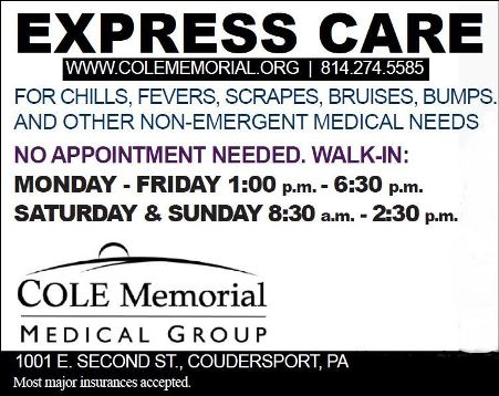 Hours For Cole Memorial Express Care