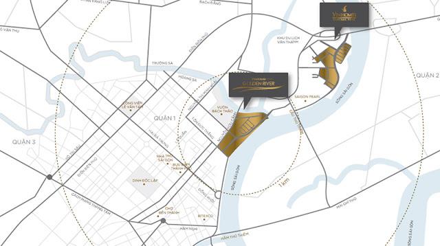 vị trí vinhomes golden river