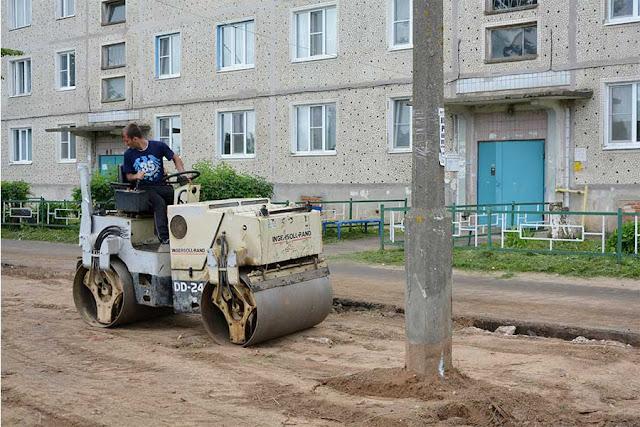 В Шеметовском поселении строят парковки Сергиев Посад