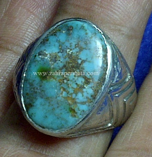 Cincin Batu Permata Pirus Persia - ZP 655
