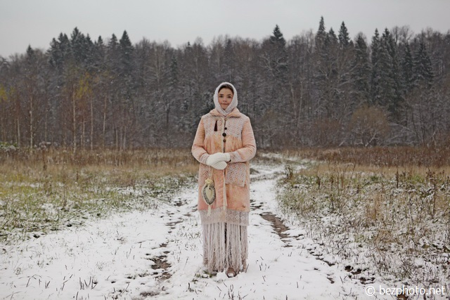фотосессия в русском стиле зимой