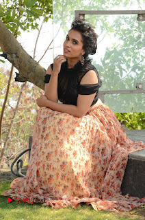 Actress Chetana Uttej Stills in Floral Long Skirt at Pichiga Nachav Movie Press Meet  0094.JPG