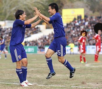 アウェー日本対タジキスタン