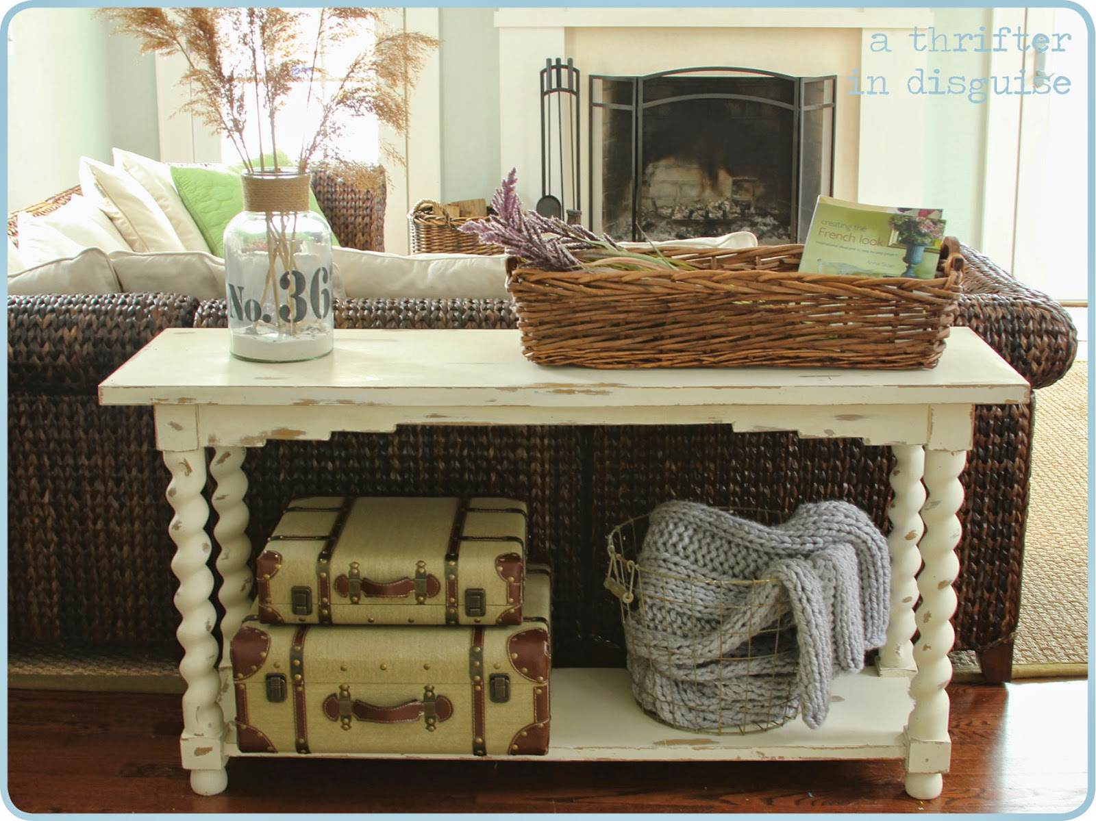 A Thrifter in Disguise: Give a Tired, Old Sofa Table a Fun ...